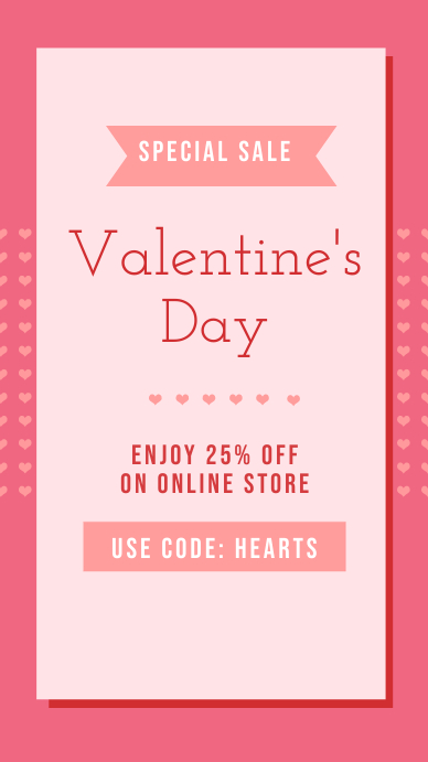 Pink Valentine's Sale Instagram Story template