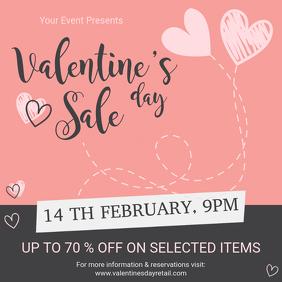 Pink Valentine's Sale Store Advert