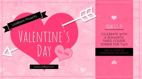 Pink Valentine Dinner Digital Display Image