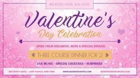 Pink Valentine Dinner Digital Display Video