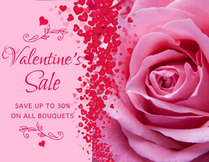 Pink Valentine's Sale Flyer Template