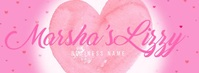 Pink Valentines Day Business Banner Video Facebook Cover Photo template