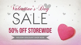 Pink Valentines Day Sale Digital Display Template
