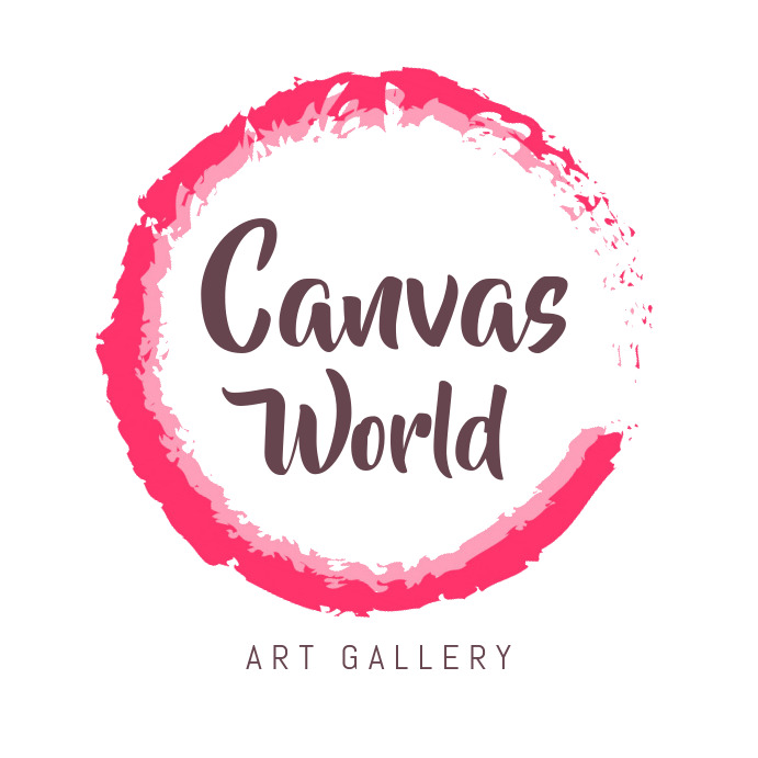 Pink Water Color Themed Art Gallery Logo