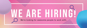 Pink We are Hiring Email Header