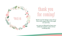 Pink Wedding Thank You For Coming Tanda template