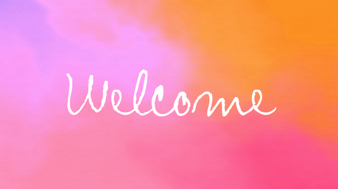 Pink Welcome Church Template