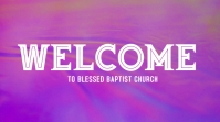 Pink Welcome Poster
