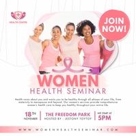 Pink Women's Health Seminar Instagram Ad template