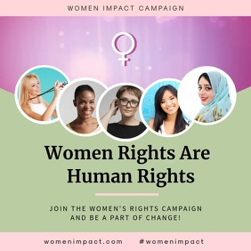 Pink Women's Rights Feminist Event Instagram template