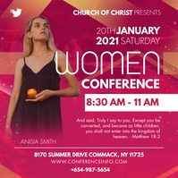 Pink Women Conference Ministry Instagram Temp Instagram-Beitrag template