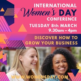 Pink women's Day Conference Video Template
