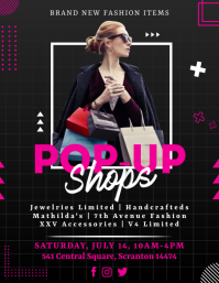 Pink Womens Vendor Pop Up Shop Flyer Template Pamflet (VSA Brief)
