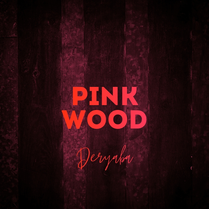Pink Wood Texture Cd Cover Art Template