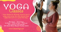 Pink Yoga Class Facebook Post Template