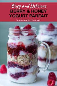 Pinterest food design template berry honey yo