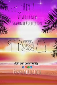 pinterest graphic/retail/clothes/postcard template