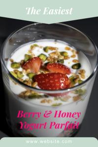 Pinterest Graphic Template yogurt berry honey Pinterest-grafik