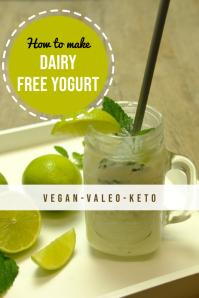 Pinterest keto yogurt design template Pinterest-grafik