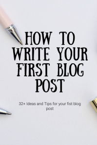 Pinterest Pin New Blog Post Template