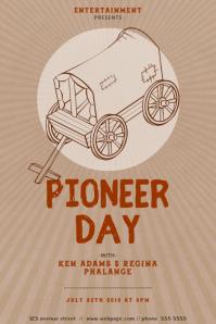 Pioneer Day Flyer Design Template