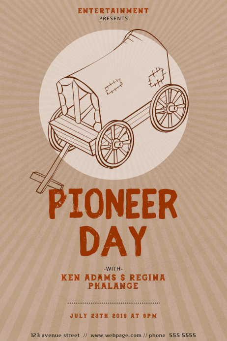Pioneer Day Flyer Design Template