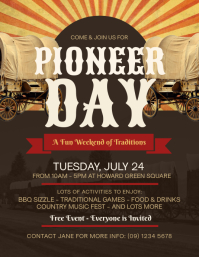 Pioneer Day Flyer Template