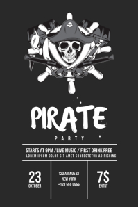 Pirate Event Flyer Template