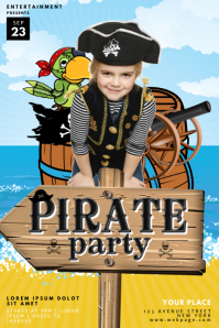 Pirate Kids Party Flyer Template