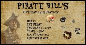 Pirate Party Facebook-annonce template