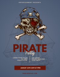 Pirate party flyer template