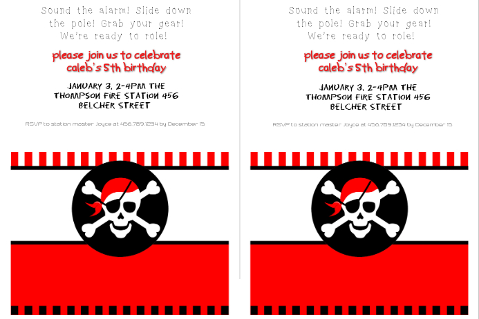 pirate party invitation template postermywall