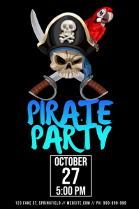 Pirate Party Poster Plakkaat template