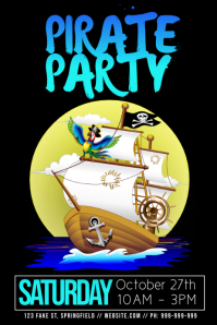 Pirate Party Poster template