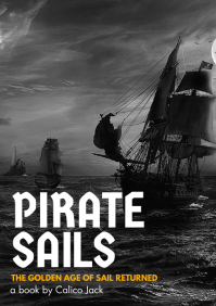 pirate sails adventure novel design template A4