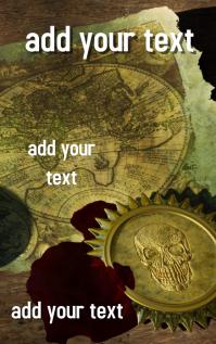 FREE!!! Pirate Treasure Book Cover Design Template