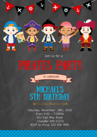 Pirates birthday party invitation