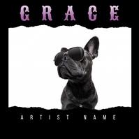 Pitbull Dog Album Cover template