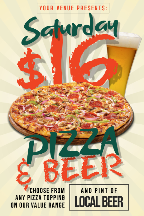 Pizza & Beer Poster