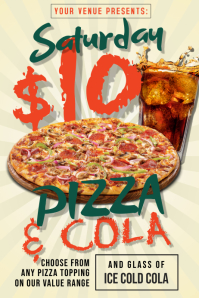 Pizza & Cola Poster