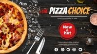 Pizza Banner Ikhava Yevidiyo ye-Facebook (16:9) template