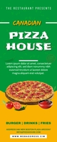 Pizza Banner Cartel enrollable de 2 × 5 pulg. template