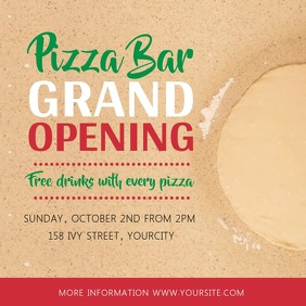 Pizza Bar Grand Opening Square Video