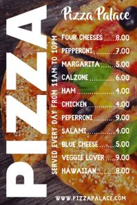 Pizza Bar Menu Template