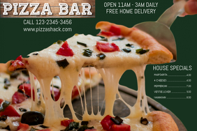 Pizza Bar Promo Poster Template