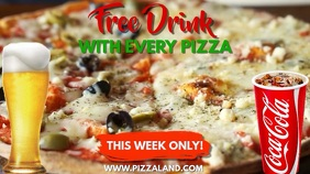 Pizza Bar Restaurant Video Ad Template Digitalanzeige (16:9)