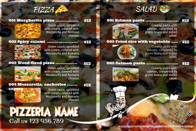 Pizza brochure template - Pizza menu flyers - Food poster