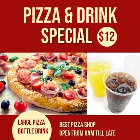 pizza combo deal Instagram Post template