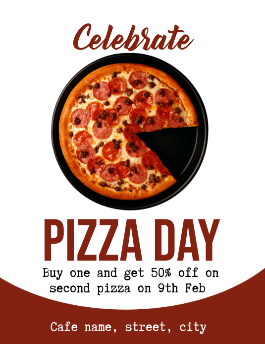 Pizza Day Flyer (US-Letter) template