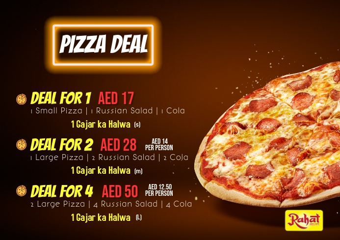 Pizza Deal Template A3
